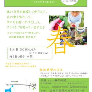 春の自然観察会~日本の四季を楽しむ会